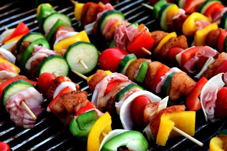 grilling kebab
